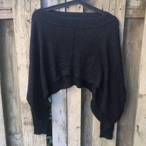 All Saints hi lo charcoal asymm sweater XS-S